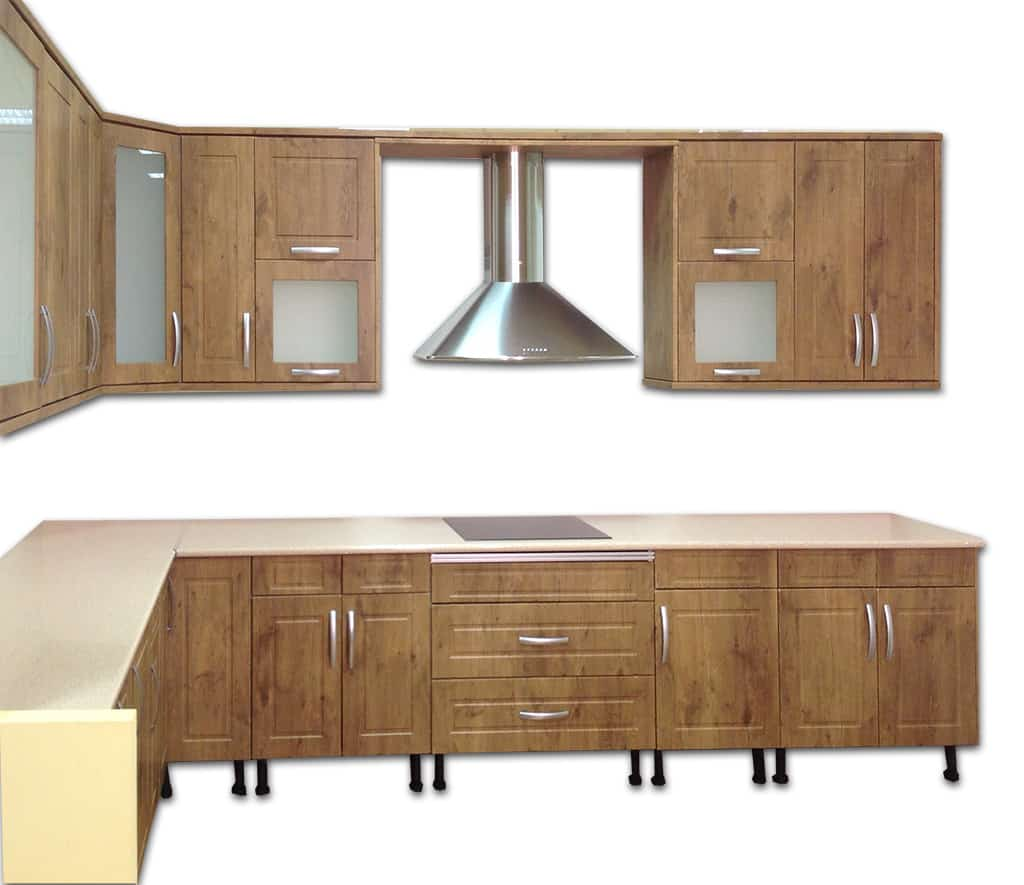 Cocina madera esquina muebles de cocina lora cocinas - Soluciones para muebles de cocina en esquina ...