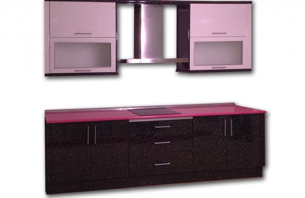 Cocina rosa - Cocina morada y blanca ...